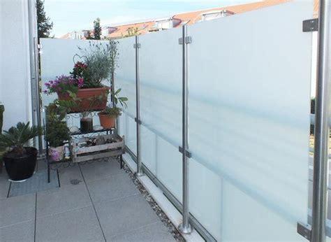 windschutz aus glas sichtschutz und windschutz aus glas