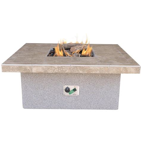 Make sure your search words are spelled correctly. 48-Inch Propane Gas Fire Pit Table By Cal Flame - Square Coffee Height : Ultimate Patio