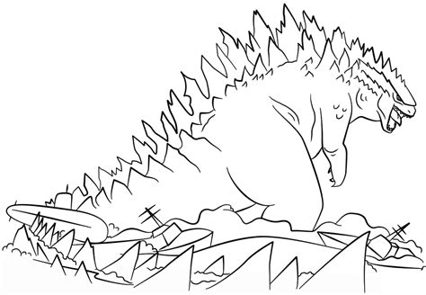 godzilla coloring pages  print  loving printable