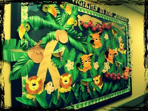 jungle animals preschool jungle bulletin board make paper plate animals 132
