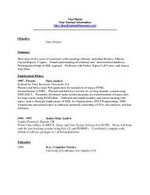 resume for sql data analyst perl resume sle great resumes