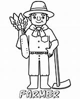 Coloring Farmer Printable Children Professions Simple Topcoloringpages Lifeguard sketch template