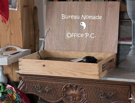bureau nomade un diy upcycling avec une caisse en bois