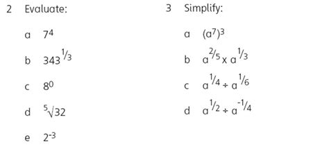 Negative And Fractional Exponents Worksheet Indices Maths Teaching