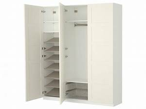 Bedroom Design: Astounding White Wood IKEA Bedroom Closet