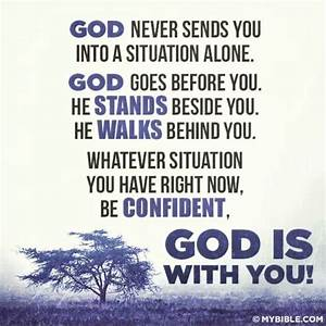 God is with me.... God And Confidence Quotes
