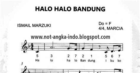 not angka lagu peuyeum bandung not angka lagu halo halo bandung not angka lagu indonesia