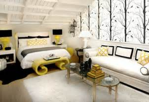 Yellow Black And White Bedroom Ideas modern yellow black white bedroom decor panda s house