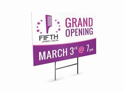 Opening Salon Grand Sign Yard Template Templates
