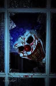 Scary Clown Looking in Window