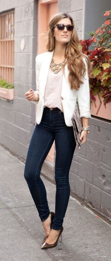 Blazer and stretch jeans | Outfit | Pinterest | Jeans Ropa y Oficinas