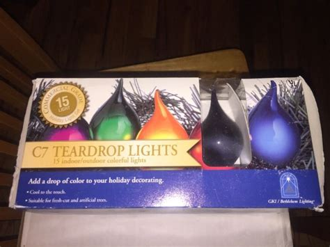 teardrop christmas lights vintage ge lights shop collectibles daily