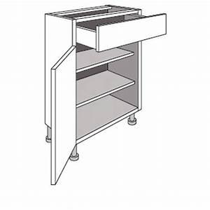 Caisson Profondeur 50 : meuble de cuisine bas cm 1 porte 1 tiroir twist cuisine ~ Premium-room.com Idées de Décoration