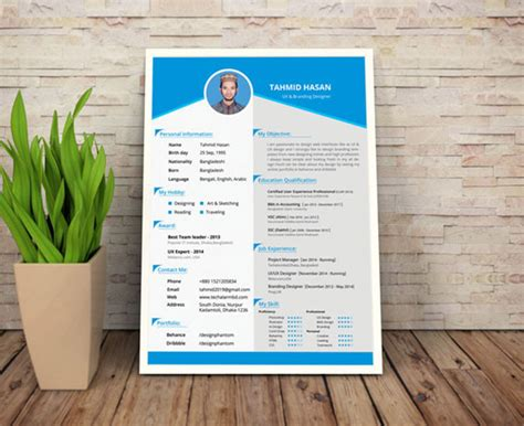 Free Resume Template Downloads 50 Beautiful Free Resume Cv Templates In Ai Indesign