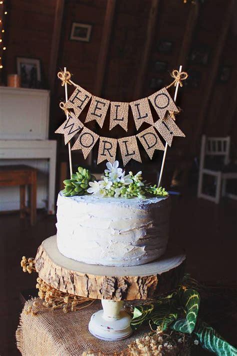 world cake topper baby shower cake topper