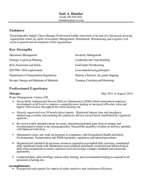 Supply Chain Manager Resume by Supply Chain Logistics Manager Resume