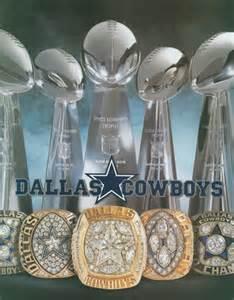 Dallas Cowboys 5 Super Bowl Trophies