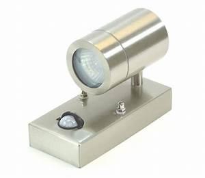 Led Sensor Outdoor Wall Light Stainless Steel Exterior Light Gu10 Moti