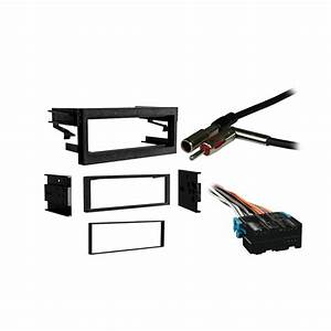 Chevy Tahoe 1995-2002 Single Din Stereo Harness Radio Install Dash Kit Package