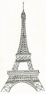 Eiffel Tower Coloring Printable sketch template