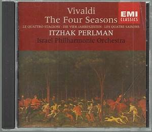 Vivaldi The Four Seasons Itzhak Perlman Classical CD
