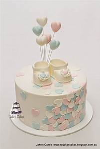 Jake's Cakes: Loveheart Baby Shower Cake | cakes ...