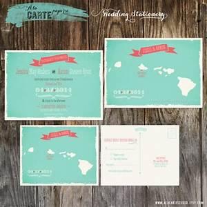 Hawaii islands wedding invitation and rsvp card map for Hawaii map wedding invitations