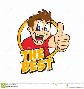Cartoon guy thumbs up stock vector. Image of excited ...