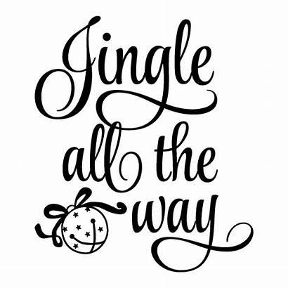 Christmas Quotes Jingle Way Bell Wall Vinyl