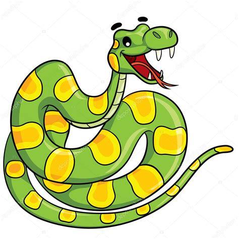 dibujos animados de la serpiente vector de stock