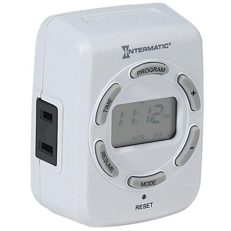 timer for lights intermatic 15 in digital indoor timer for lights