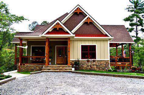 craftsman house plans with walkout basement lake wedowee creek retreat house plan lake house plans