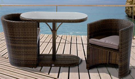 Balkon Set Polyrattan by 6tlg Balkon Set Continental Mocca Sessel Kissen Tisch