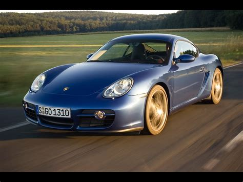 2007 Porsche Cayman - Blue Front Angle Speed Forest ...