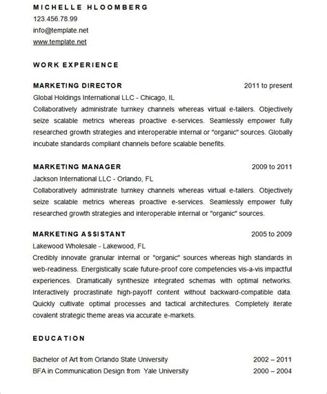 How To Make Your Cv More Attractive by Sle Marketing Director Resume Cv Template Mac Resume
