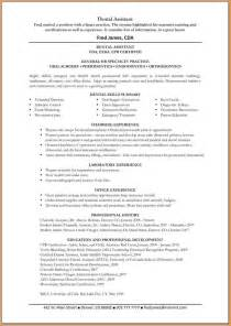 doctors resumes 4 dental assistant resume skills worker resume