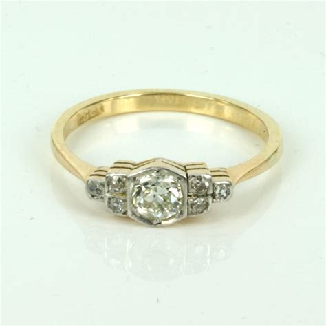 buy deco engagement ring in gold and platinum sold items sold rings sydney
