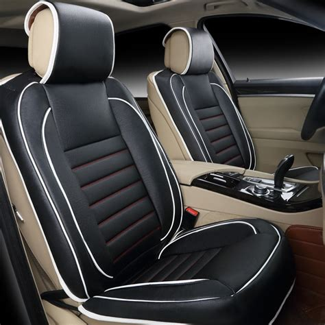 Free Shipping 100% Leather Car Seat Covers Fashion Design