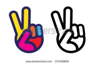 Peace Sign Hand Vector
