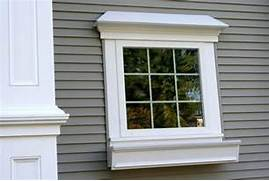 White Exterior Window Trim