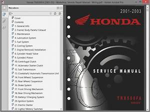 Honda Trx500fa  2001-03  - Service Manual