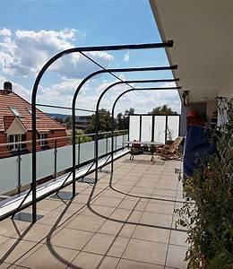 Pergola Metall Terrasse : balkon pergola pergola f r balkon bu45 hitoiro balkon sichtschutz aus holz 50 ideen f r ~ Sanjose-hotels-ca.com Haus und Dekorationen