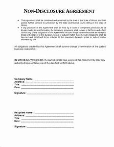 5 non disclosure agreement template freereport template With international non disclosure agreement template
