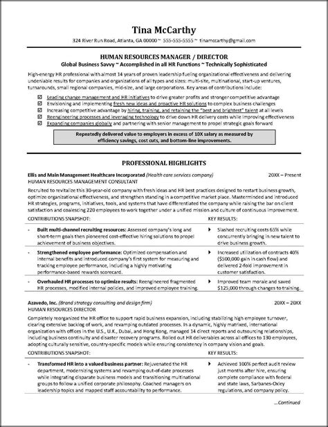Career Achievements In Resume by This Human Resources Resume Illustrates The Importance Of