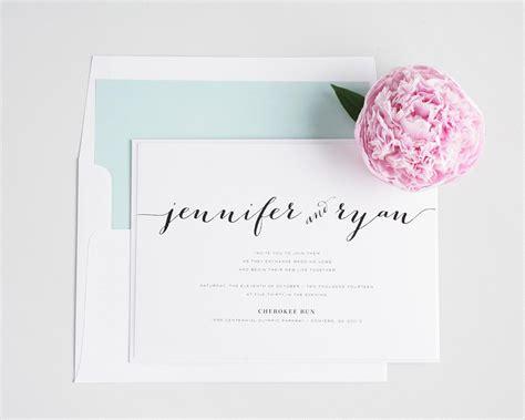 Rustic Script Wedding Invitations In Mint
