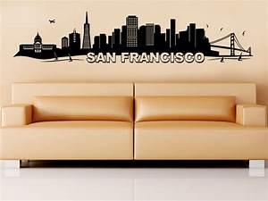 Wandtattoo San Francisco : wandtattoo san francisco mit golden gate bridge wandtattoo de ~ Whattoseeinmadrid.com Haus und Dekorationen
