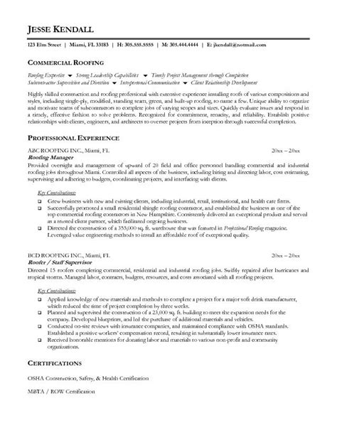 construction safety supervisor resume sle contractor resume sales contractor lewesmr