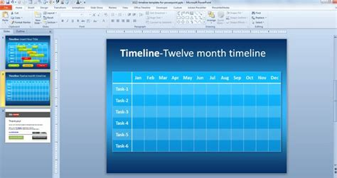 simple timeline template  powerpoint