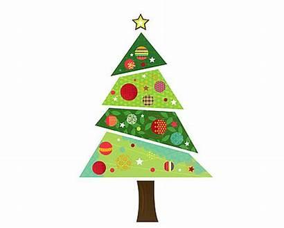 Tree Christmas Modern Clipart Fabric Sticker Wall