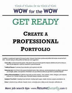 how to create a professional job search portfolio resume With job portfolio template